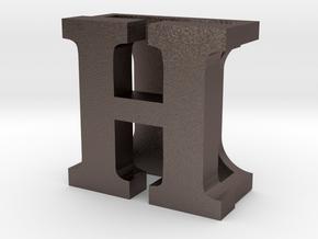 BandBit H for Fitbit Flex in Polished Bronzed Silver Steel