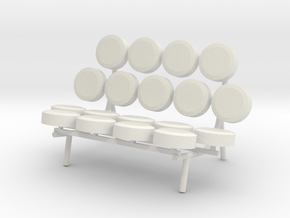 1:24 Nelson Marshmallow Sofa Couch in White Natural Versatile Plastic