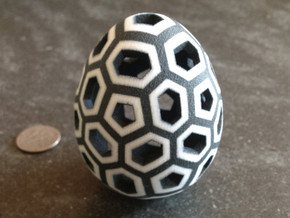 Mosaic Egg #1 in White Premium Strong & Flexible