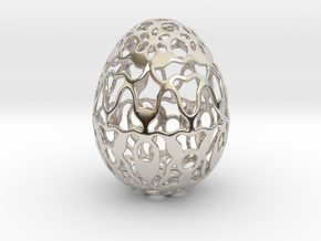 Screen - Decorative Egg - 2.3 inch in Rhodium Plated Brass