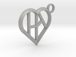 Heart of love keychain [customizable] in Aluminum