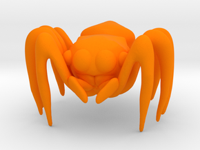 Jumping Spider in Orange Processed Versatile Plastic