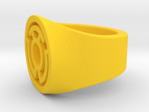 Yellow Lantern Ring S9.5   V2 in Yellow Processed Versatile Plastic: 9.5 / 60.25
