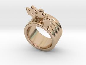 Love Forever Ring 17 - Italian Size 17 in 14k Rose Gold Plated Brass