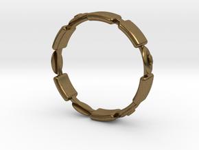 Ø17.35 Fractal Ring/Ø0.683 inch in Natural Bronze