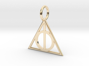 Deathly Hallows Charm in 14k Gold Plated Brass