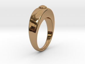 Ø16.51 Egg Ring/Ø0.650 inch Model B in Polished Brass