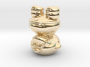 Dwarf N0gg1n in 14k Gold Plated Brass