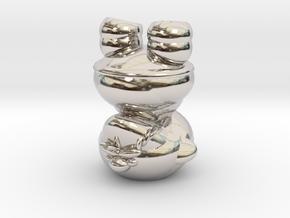 Dwarf N0gg1n in Rhodium Plated Brass