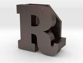 BandBit R for Fitbit Flex in Polished Bronzed Silver Steel
