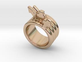 Love Forever Ring 21 - Italian Size 21 in 14k Rose Gold Plated Brass