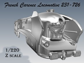 Z 1-220 French 231-726 Carenee Locomotive in Smooth Fine Detail Plastic