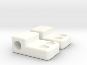 Krono's Shoulder Hinge in White Processed Versatile Plastic