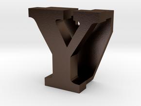 BandBit Y1, Fitbit Flex (Fits parallel to strap.) in Polished Bronze Steel