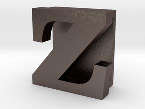 BandBit Z, Fitbit Flex (Fits parallel to strap.) in Polished Bronzed Silver Steel