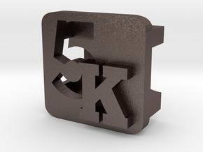 BandBit 5K for Fitbit Flex in Polished Bronzed Silver Steel