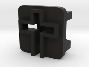 BandBit Cross for Fitbit Flex in Black Natural Versatile Plastic