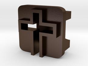 BandBit Cross for Fitbit Flex in Polished Bronze Steel