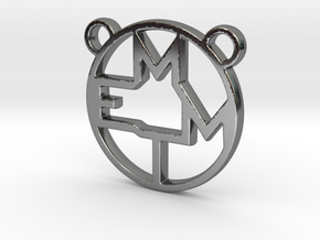 MEMT MONOGRAM in Fine Detail Polished Silver