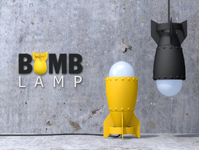 Bomb Lamp in Yellow Processed Versatile Plastic