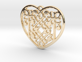 Victorian Heart in 14k Gold Plated Brass