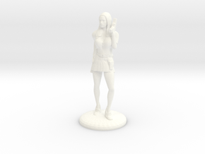Lady Cop - 28mm version in White Processed Versatile Plastic