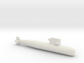PLA[N] 039G Submarine, Full Hull, 1/1800 in White Natural Versatile Plastic