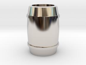 """Barrel"" - A Monopoly figure in Platinum"