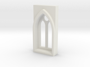 building details serie - Gothic Window 5mm Type 1 in White Natural Versatile Plastic