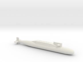 PLA[N] 094 SSBN, Full Hull, 1/2400 in White Natural Versatile Plastic