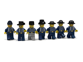 7 x American Civil War in Blue Strong & Flexible Polished