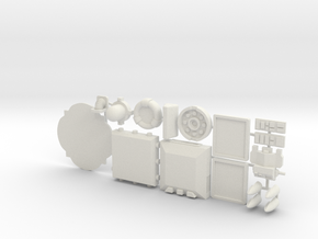 28mm/32mm Sci Fi Greebles A in White Strong & Flexible
