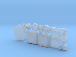 28mm/32mm Sci Fi Greebles A in Smooth Fine Detail Plastic