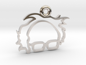 Bernie Sanders Keychain in Rhodium Plated Brass