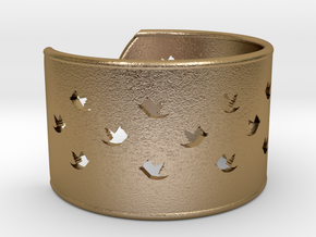 Bird Bracelet XL Ø73 Mm/2.874 inch in Polished Gold Steel