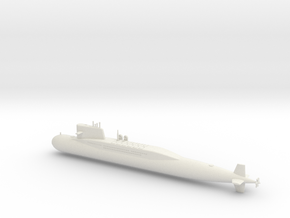 1/600 Type 092 (Xia Class) SSBN in White Natural Versatile Plastic