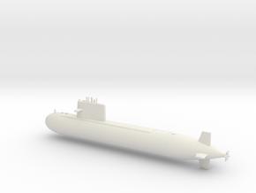 1/600 Type 091 Submarine in White Natural Versatile Plastic