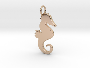 Seahorse pendant in 14k Rose Gold Plated Brass