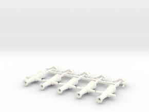 5 x Swivel Gun in White Processed Versatile Plastic