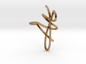 Scribble Pendant in Polished Brass