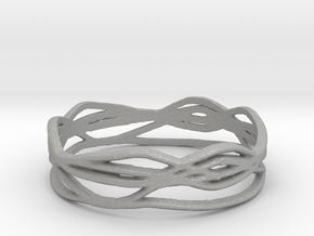 Ring Design 01 Ring Size 10 in Aluminum