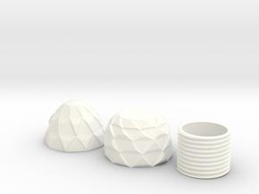 Screwable Dragon Egg V2 in White Processed Versatile Plastic