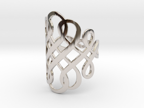 Celtic Knot Ring Size 8 in Platinum