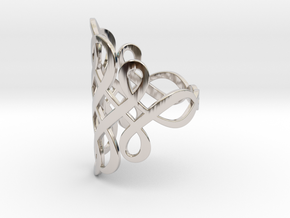 Celtic Knot Ring Size 9 in Rhodium Plated Brass