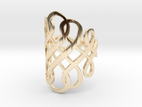 Celtic Knot Ring Size 10 in 14k Gold Plated Brass