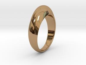 Ø0.674 inch Streamlined Ring Model B Ø17.13 mm in Polished Brass