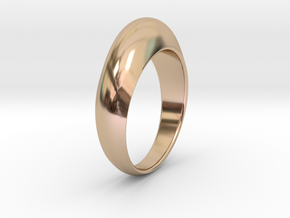 Ø0.674 inch Streamlined Ring Model B Ø17.13 mm in 14k Rose Gold Plated Brass