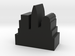Game Piece, City Token - Modern v2 in Black Natural Versatile Plastic