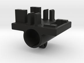 LHMD#0004 (Servo Holder For The Henge 933 servo (F in Black Natural Versatile Plastic