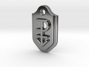 Pansexual Pendant - Embossed in Fine Detail Polished Silver